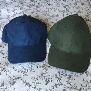 Blue and Green Suede Hats